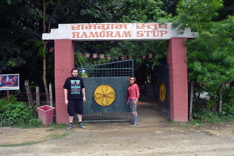 Adam & Kerelee Visiting Ramagram Stupa