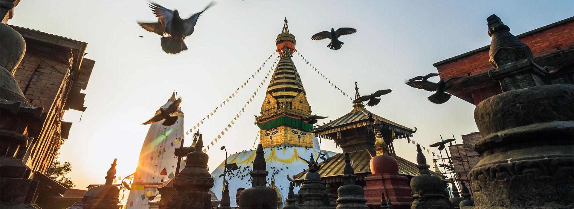 Swayambunath Stupa - places to visit in Kathmandu