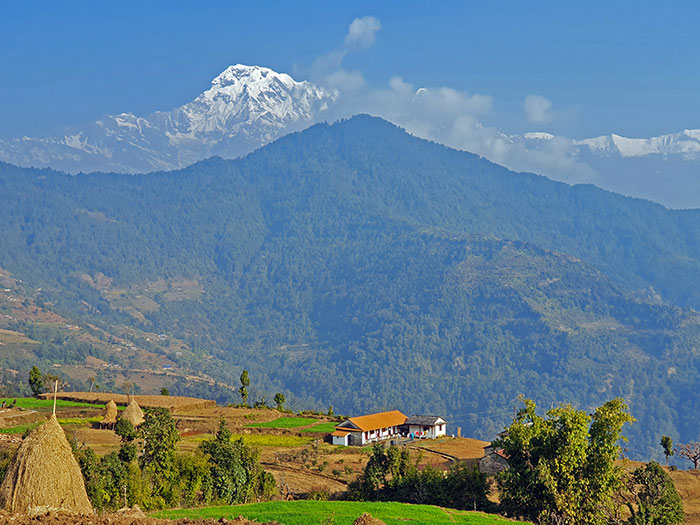 View of Annapurna South from Dhampus