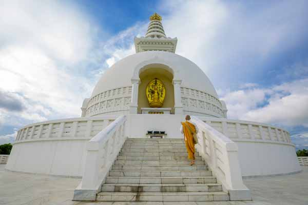 monk-visiting-world-peace-pagoda-lumbini