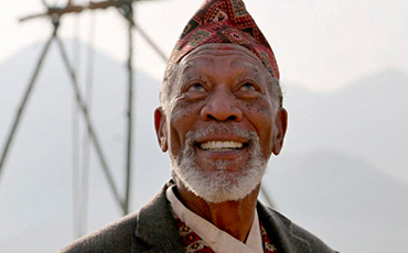 MorganFreeman The Story of God shooting in Nepal